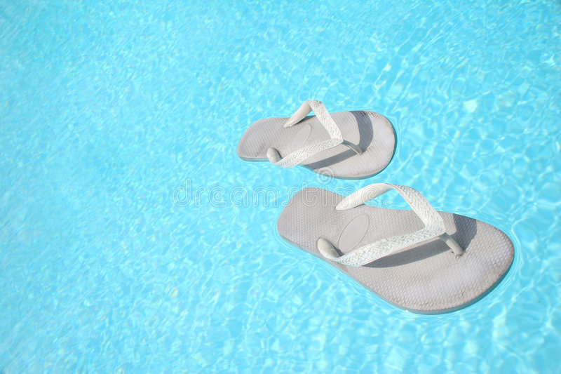 Floating Flip Flops royalty free stock photography