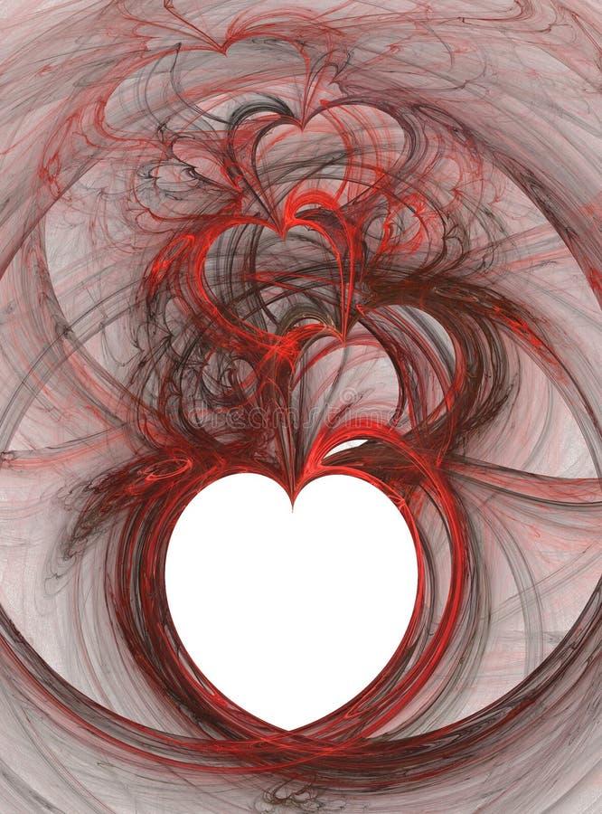 Floating hearts stock photos