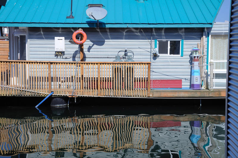 A floating house stock images