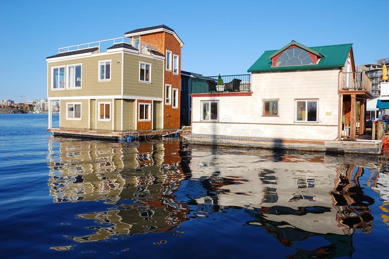 Floating house in fishman's wharf stock image