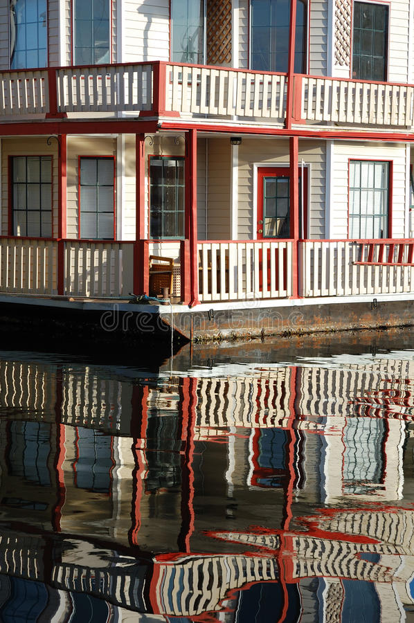 Floating house in fishman's wharf royalty free stock photos
