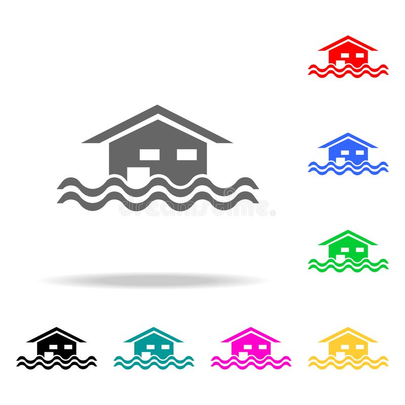 floating house icon. Elements of real estate in multi colored icons. Premium quality graphic design icon. Simple icon for websites vector illustration