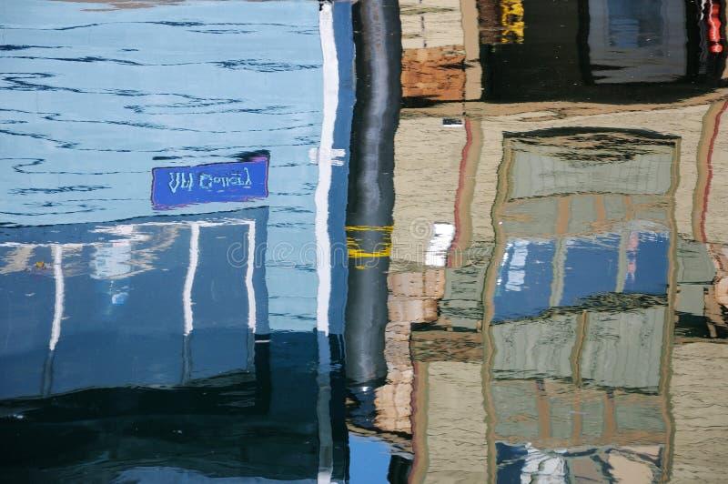 Floating house reflection royalty free stock photos