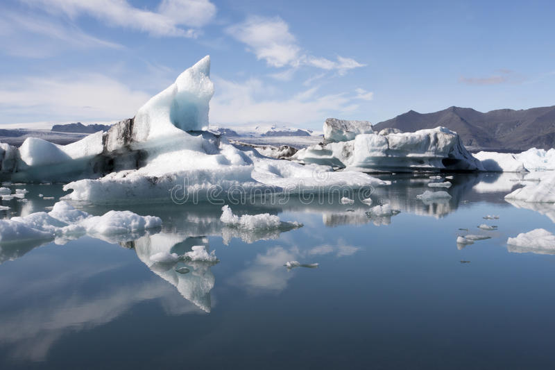 Floating Icebergs In Iceland Stock Image