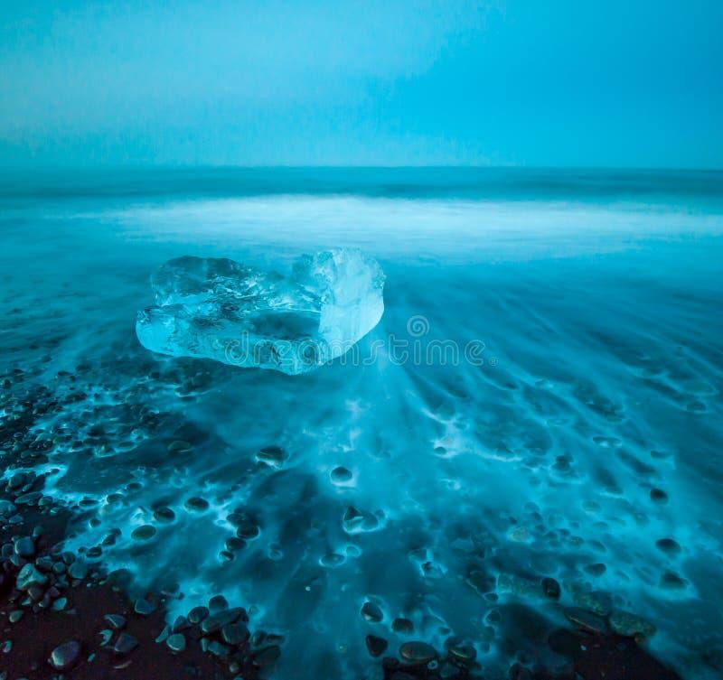 Floating icebergs in Jokulsarlon Glacier Lagoon, Iceland royalty free stock photo