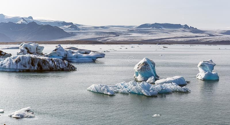 Floating icebergs in Jokulsarlon, Iceland. Floating icebergs in Jokulsarlon glacier lagoon, Iceland stock photo