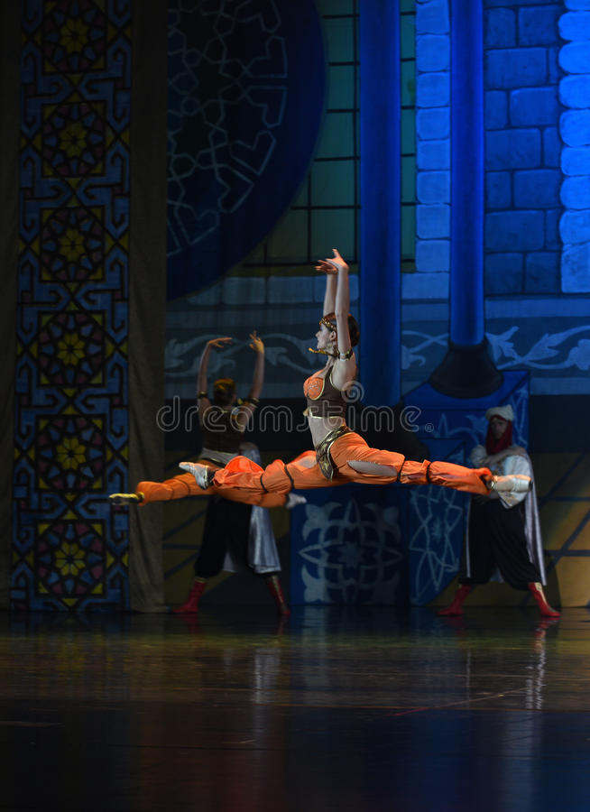 """Floating jump- ballet """"One Thousand and One Nights"""" stock photo"""