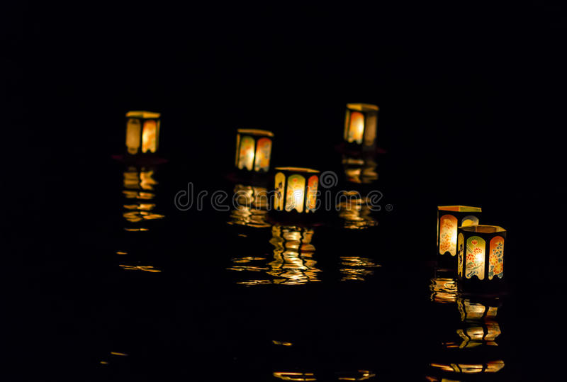 Floating Lanterns royalty free stock photos