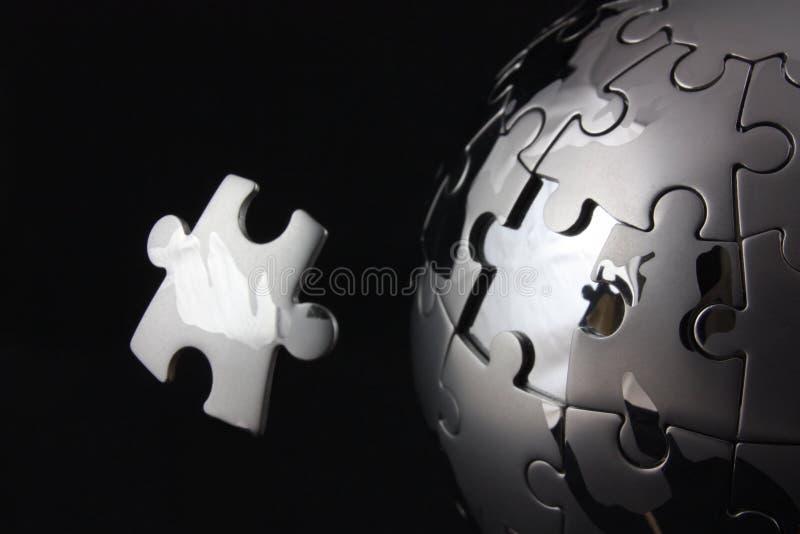 Floating last jigsaw piece