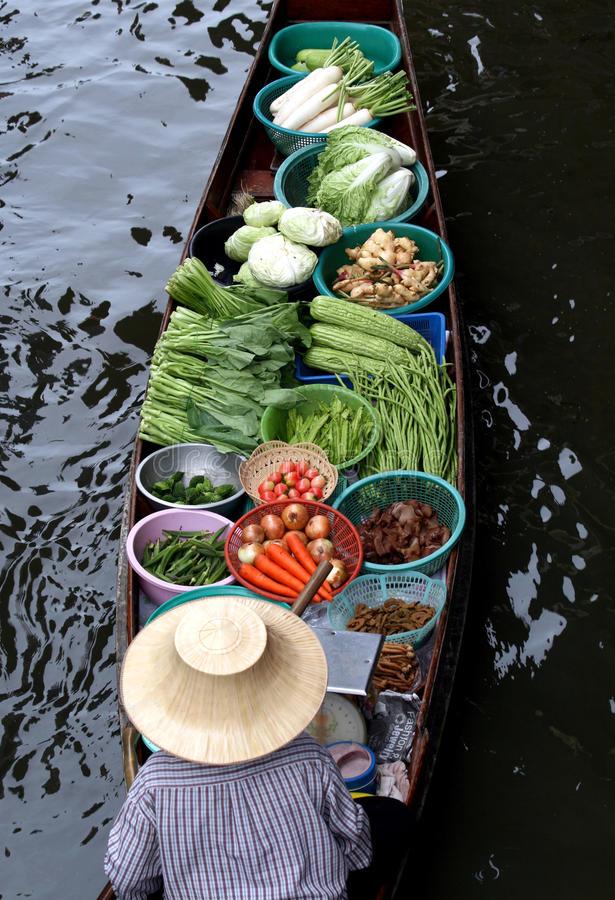 Floating market royalty free stock images