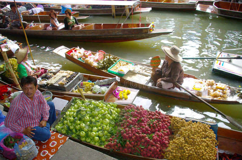 Floating Market Editorial Photography