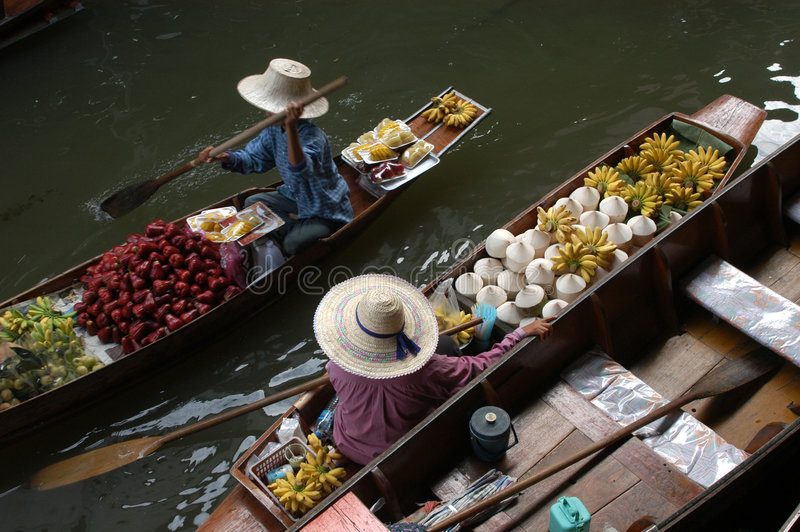 Download Floating Market stock image. Image of green, exotic, groceries - 529887