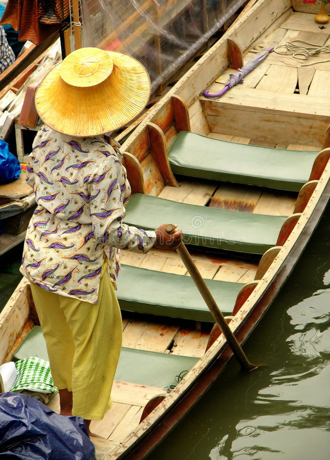 Download Floating Market stock image. Image of floating, earn, push - 85345