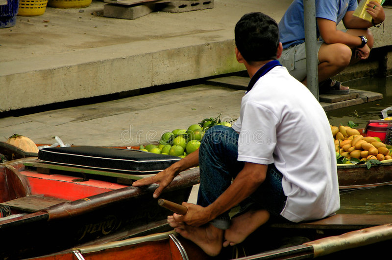 Download Floating Market stock photo. Image of fruits, river, asian - 85346