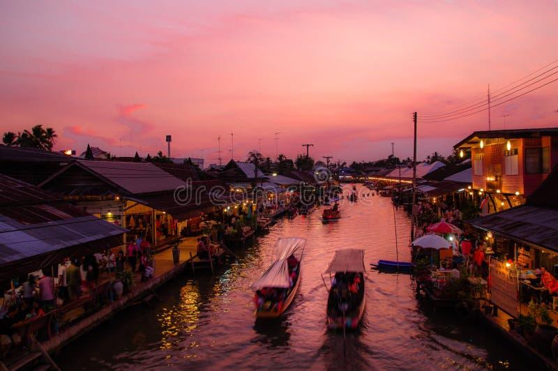 Floating market Amphawa. Floating market in Amphawa of thailand royalty free stock images