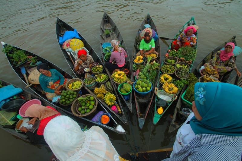 Floating market festival 2015 in Banjarmasin, Indonesia. Floating market festival in Banjarmasin, Indonesia royalty free stock photo
