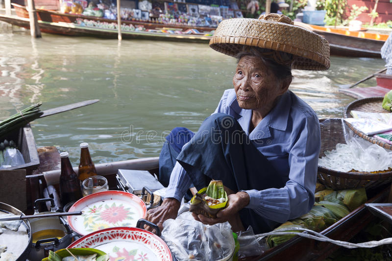 Floating Market Food Seller stock images