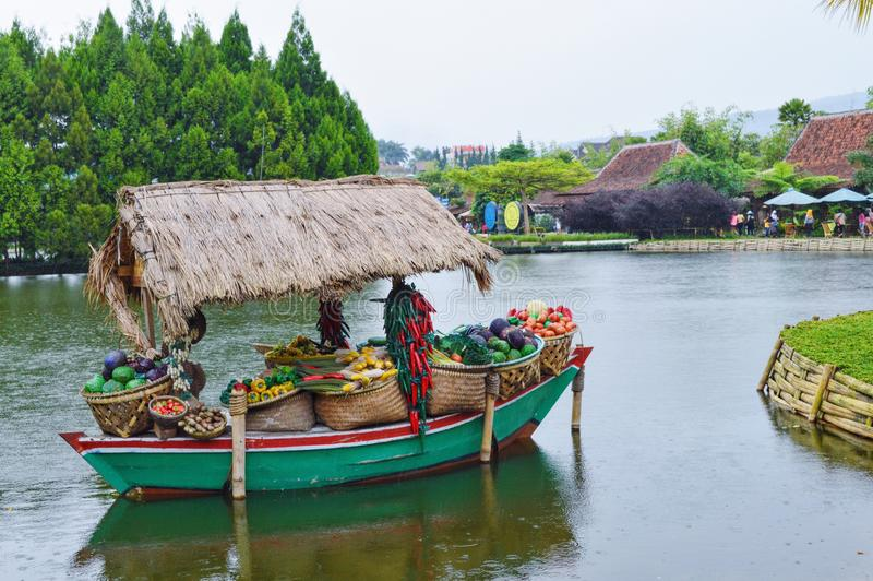 Floating market stock photography