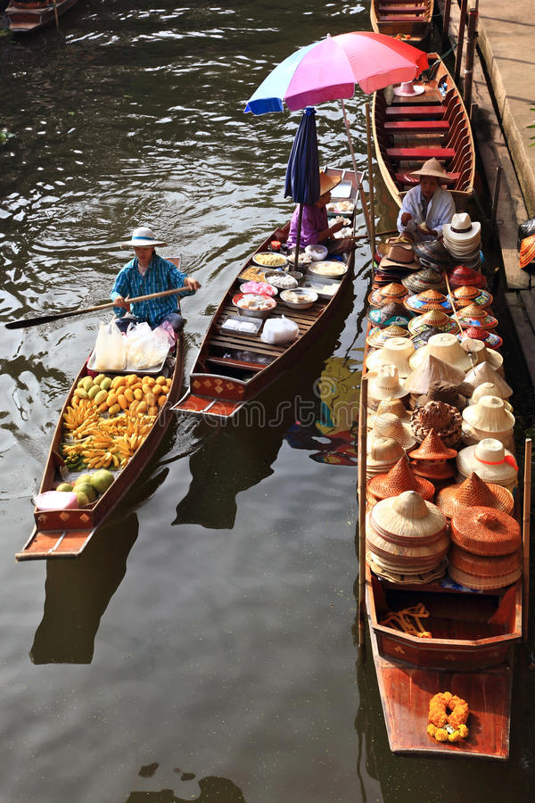 Download Floating market, Thailand editorial stock image. Image of floating - 16100479