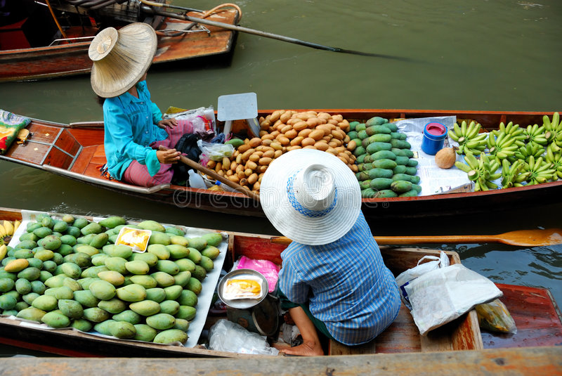 Download Floating market thailand stock image. Image of banana - 5549569