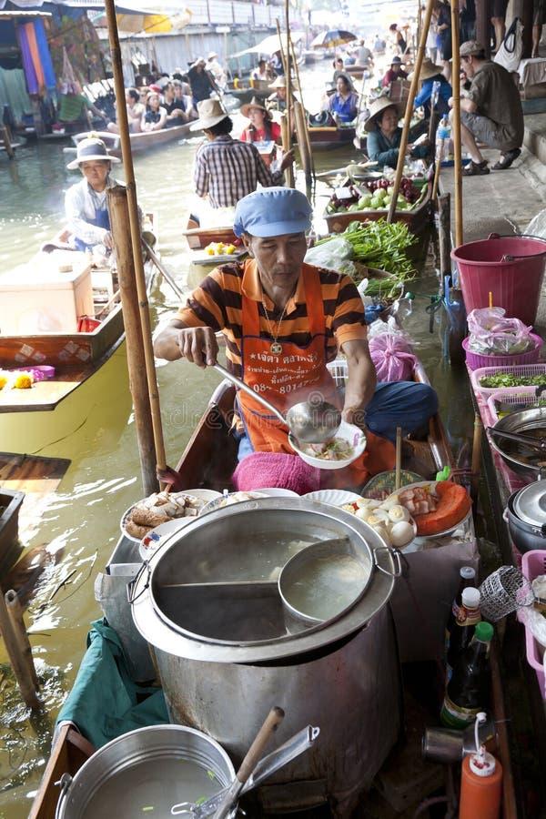 Floating Market Vendors Editorial Image