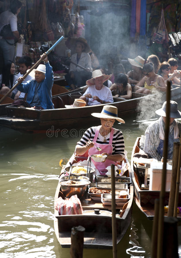 Download Floating Market Vendors editorial photo. Image of food - 24490191
