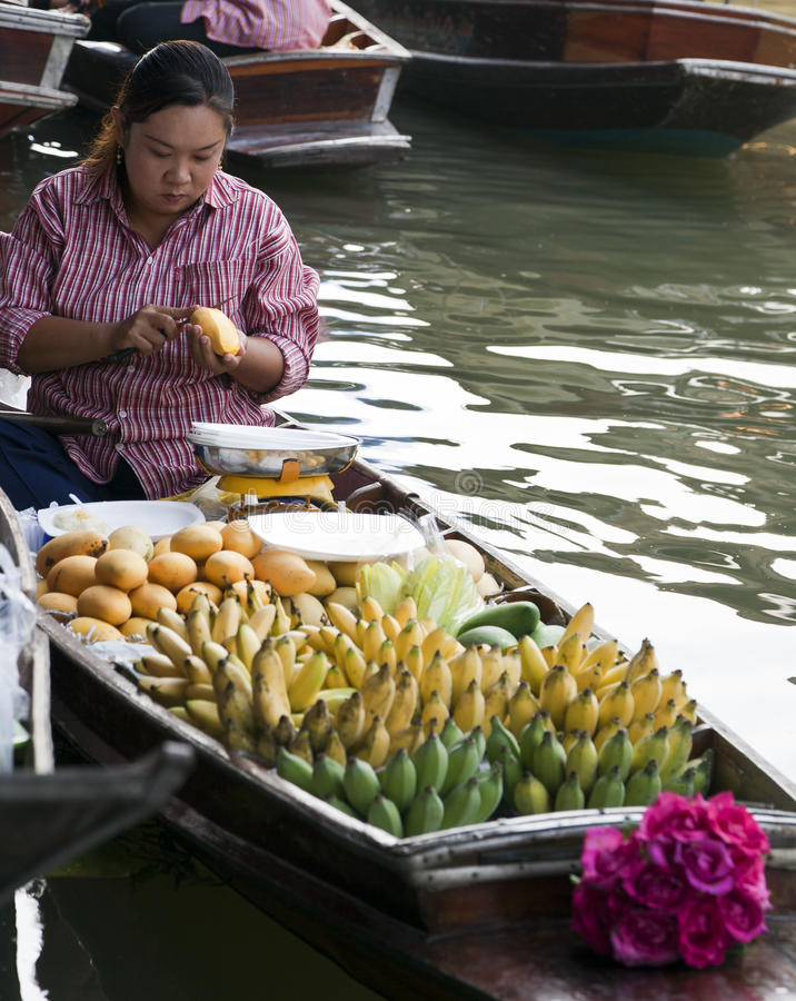 Download Floating Market Vendors editorial photo. Image of boats - 24491416