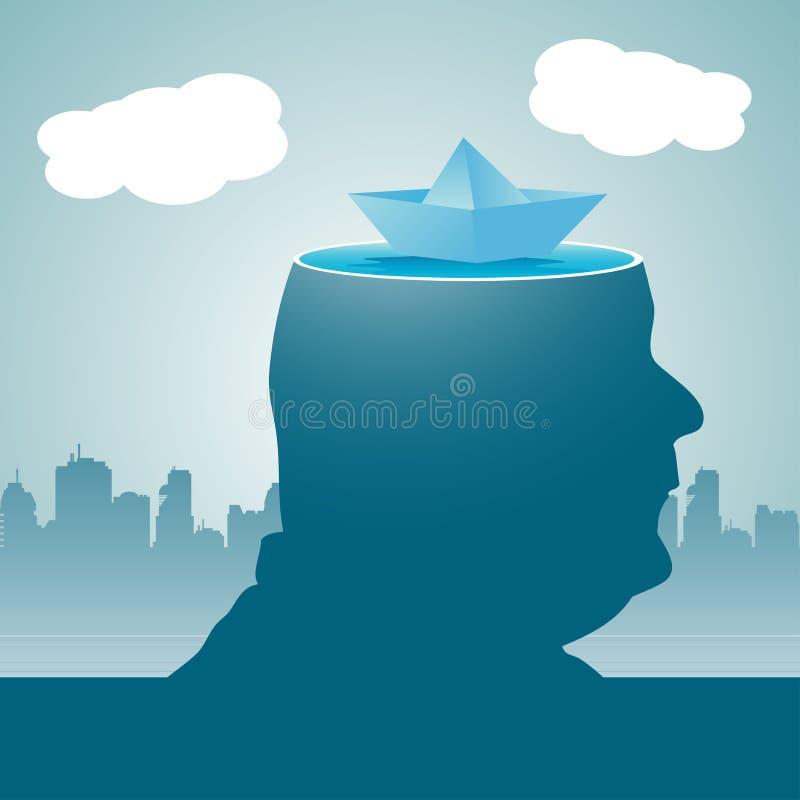 Floating mind stock image
