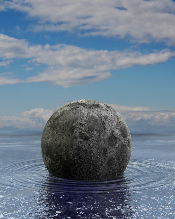 Download Floating moon stock illustration. Image of floating, ocean - 28688306