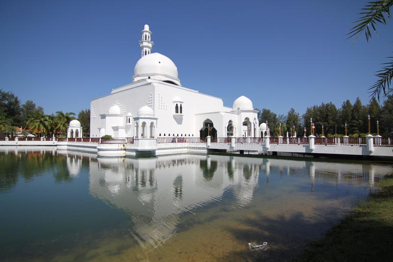Floating mosque royalty free stock photos