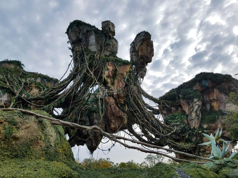 Floating mountains from Pandora in Disney stock photography