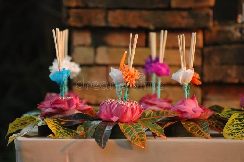 Floating ornament festival in Bangkok Thailand stock image