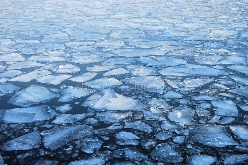 Floating plates of ice royalty free stock photos