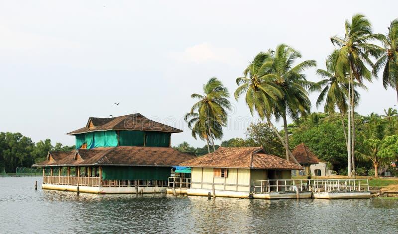 Floating restaurant. At veli tourist village in trivandrum, kerala stock image