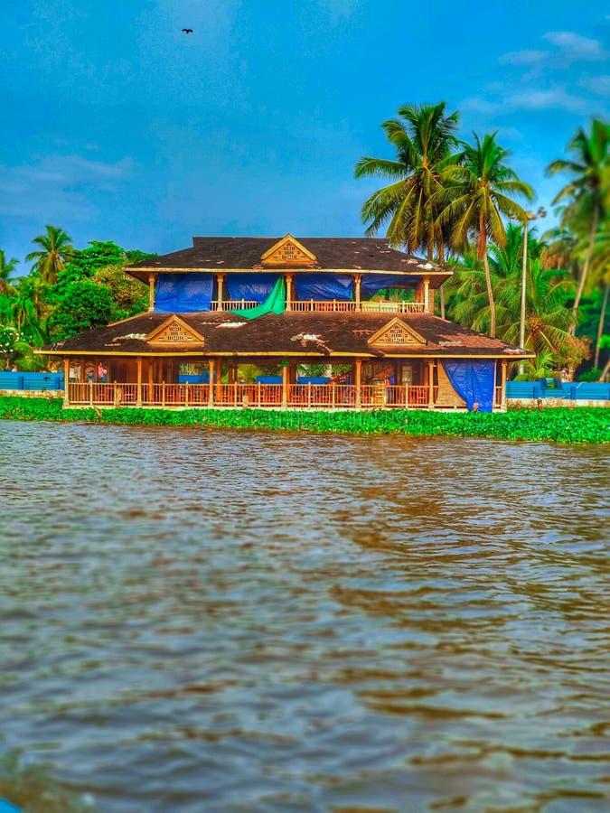Floating restaurant. At Veli royalty free stock photos