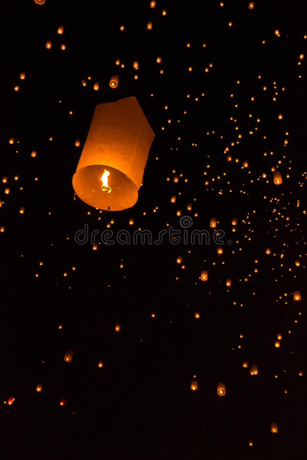 Floating into the sky royalty free stock photography