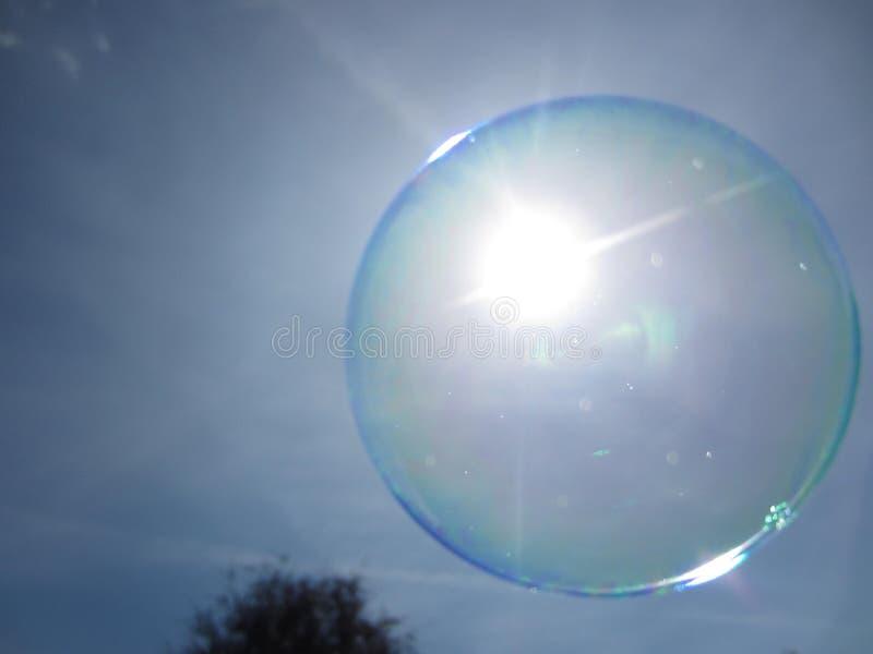 Floating soap bubble stock image