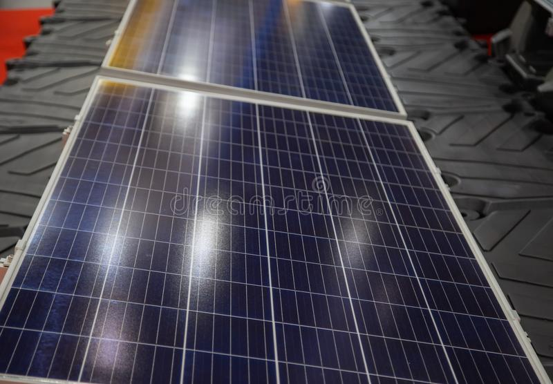Floating solar cell royalty free stock image