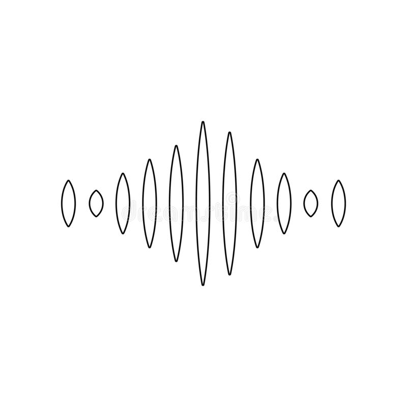 Floating sound wave icon. Element of music instrument for mobile concept and web apps icon. Outline, thin line icon for website. Design and development, app stock illustration