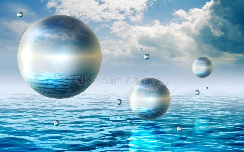 Download Floating Spheres Royalty Free Stock Photos - Image: 5782248
