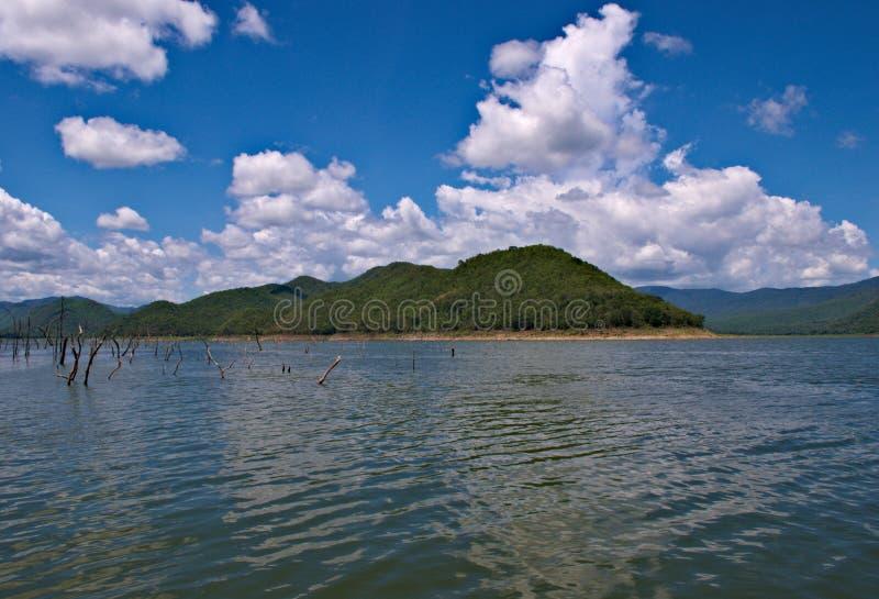 Floating in Srinakarin Dam royalty free stock photography