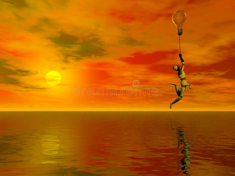 Download Floating Thoughts Stock Photo - Image: 1704390