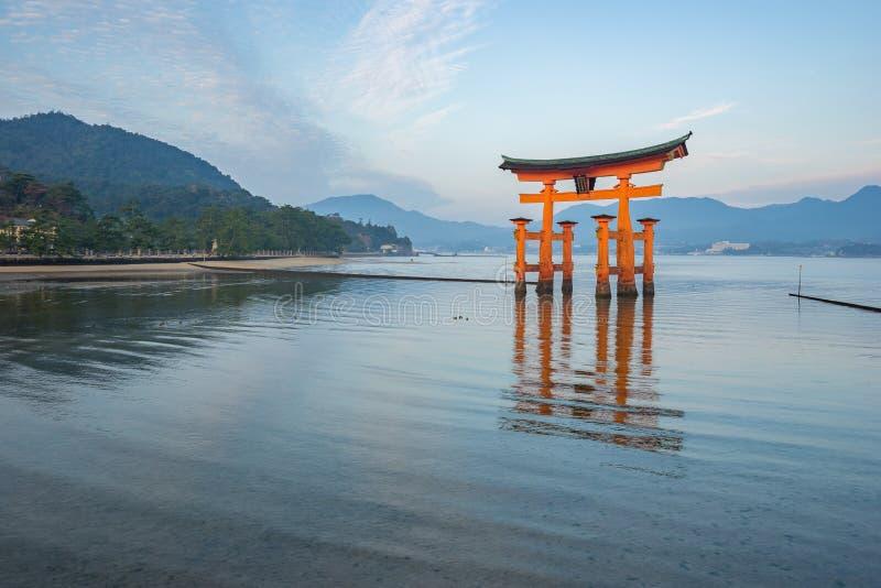 The Floating Torii gate in Miyajima island, Japan.  royalty free stock photos