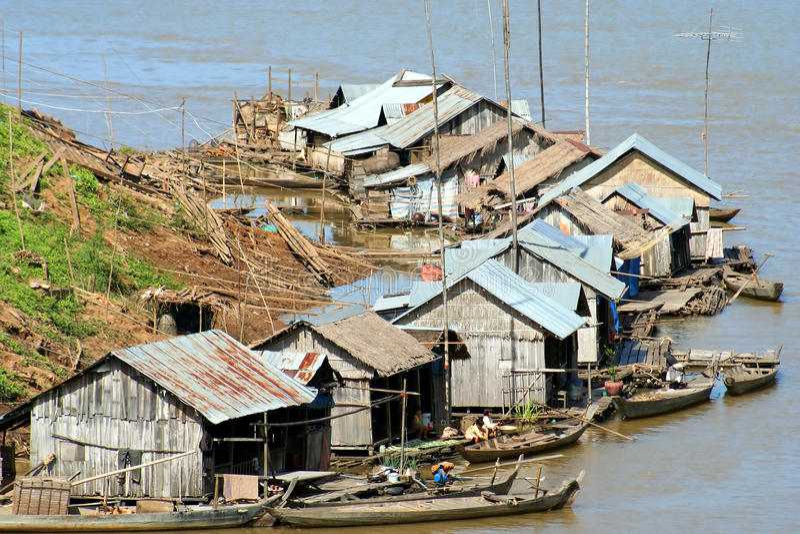 Download Floating village stock image. Image of fishermen, asian - 26203203