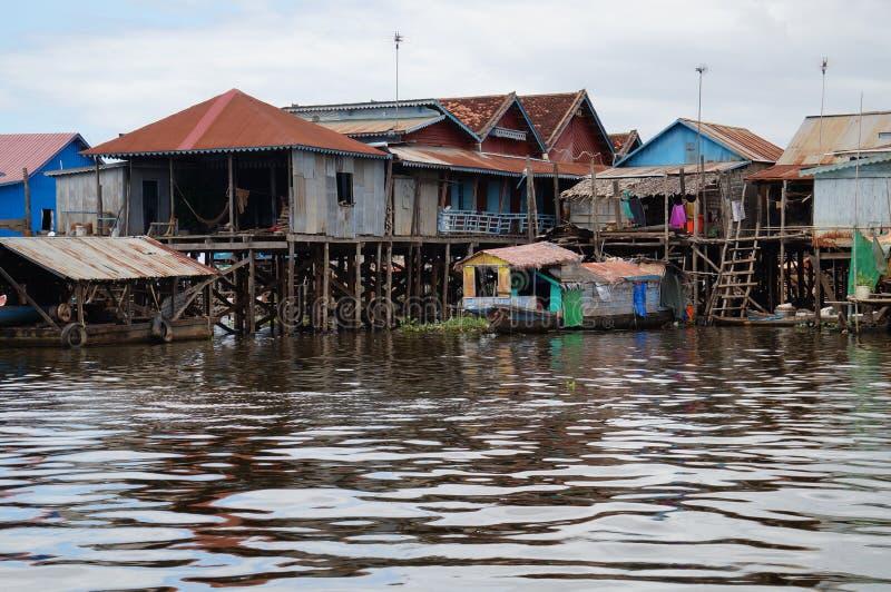 Floating village, lake tonle sap royalty free stock image