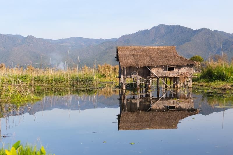 Floating villages of Inle Lake, Myanmar. Floating villages of Inle Lake, in Myanmar stock photography