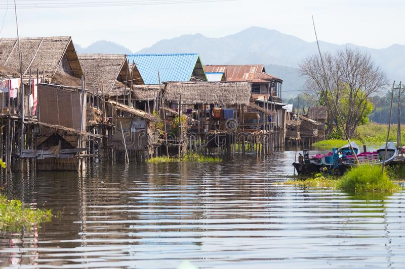 Floating villages of Inle Lake, Myanmar. Floating villages of Inle Lake, in Myanmar stock images