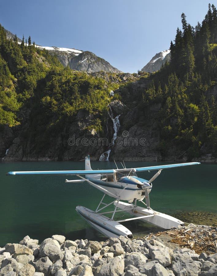 Floatplane - Rocky Mountains - Canada royalty free stock image