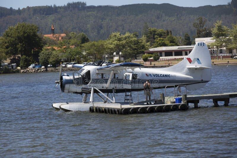 Floatplane, Rotorua, Nueva Zelanda foto de archivo