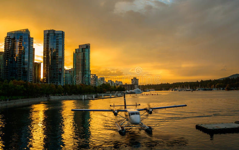 Floatplane Vancouver royalty free stock photo
